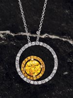 Style: 122445 - Fancy diamond pendant.  Click the image for details.